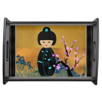 Asian Dolls Serving Tray