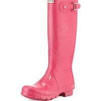 Hunter Boot Original Tall Gloss Rain Boot, Bright Cerise