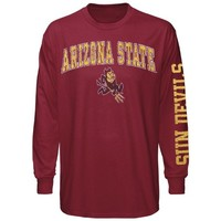 Arizona State Sun Devils Big Arch & Logo Long Sleeve T-Shirt - Maroon