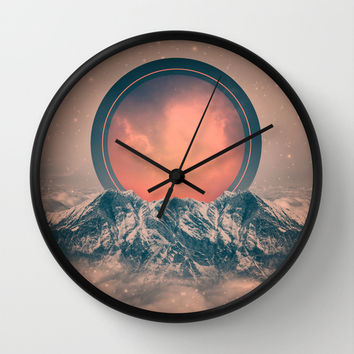 To Rise Again (Solar Eclipse) Wall Clock by Soaring Anchor Designs