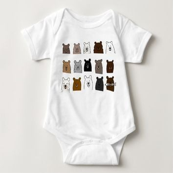 Bear Portraits Baby Bodysuit