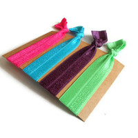 Elastic Hair Ties Bright Multicolored Yoga Hair Bands