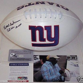 OTTIS ANDERSON HAND SIGNED NEW YORK NY GIANTS FULL SIZE FOOTBALL SB XXV MVP PSA