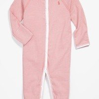 Infant Girl's Ralph Lauren Stripe Footie