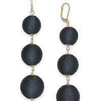 INC International Concepts I.N.C. Gold-Tone Wrapped Ball Triple Drop Earrings, Created for Macy's Jewelry & Watches - Fashion Jewelry - Macy's