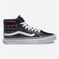 Vans Guate Stripe Sk8-Hi Slim Womens Shoes Black Combo  In Sizes