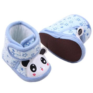 New Newborn Warm Baby Girl Anti-slip Soft Sole Slipper Shoes Boots Hot