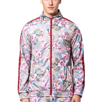 Monstruo Track Jacket - Red/Pink