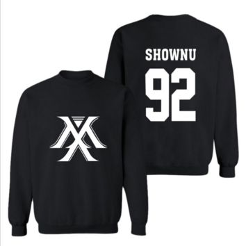 MONSTA X the same paragraph should help the Korean version of spring and autumn men and women fleece sweater coat