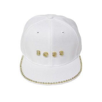 Rhinestone studded High Quality BOSS Snapback
