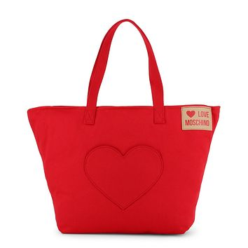 Love Moschino Women Red Shopping bags