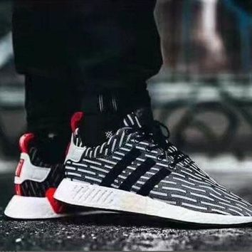 LMFUX5 Adidas NMD R2 Primeknit BB2951 Boost Sport Running Shoes Classic Casual Shoes Sneakers-1
