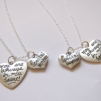 2  Special Mother Special Daughter You Are Always In My Heart Necklaces