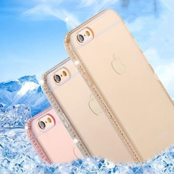 for iphone 5s 5 SE Case Clear Transparent Luxury Rhinestone Thin Back Crystal Diamond Soft TPU Cover Case for iphone 7 6 6s Plus