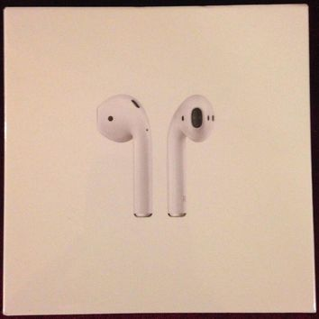 VONW3Q New Apple AirPods white bluetooth wireless earbuds headphones MMEF2AF/A ear buds