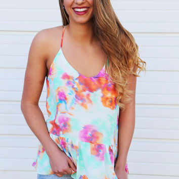 Sweet On Floral Baby Doll Tank