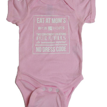 Eat At Mom's Baby Onesuit {Cotton Candy}