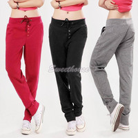 Activities New Casual Pencil Sweat Pants Straight Sports Harem Hip-Hop Pants Sports Women Casual Pants 18