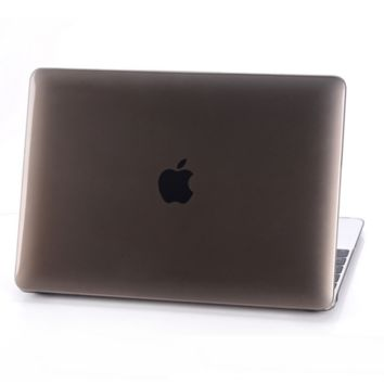 """Brown Rubberized Matte Hard Case Cut out Cover for Macbook AIR  13"""" PRO 13"""" 15"""" Retina 12"""" 13"""" 15"""" N0017"""