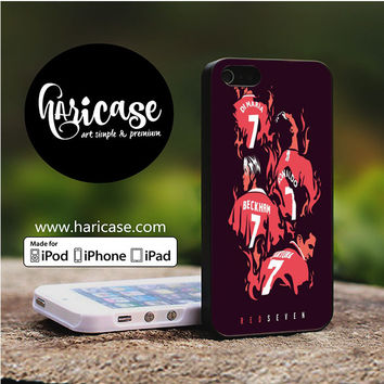 Red Seven Manchester United iPhone 5 | 5S | SE Cases haricase.com
