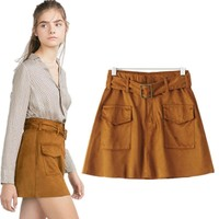 Waistband With Pocket Waist Belt Skirt = 5840017793