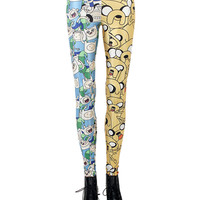 Digital Asymmetry Cartoon Print Leggings