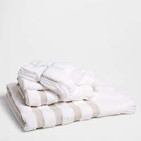COTTON TOWEL WITH LINEN BORDER - Towels & Bathrobes - Bathroom | Zara Home United Kingdom