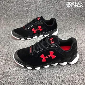 Under Armour  CLUTCHFIT DRIVE Casual basketball shoes, leather shoes, hard rubber soles, fashion shoes L-CSXY Black&Red icon