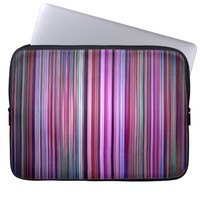 Purple striped pattern laptop sleeve