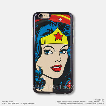 Wonder woman Free Shipping iPhone 6 6 Plus case iPhone 5s case iPhone 5C case 057