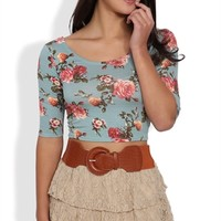 Triple Tiered Floral Lace Skrit with Belted Mini
