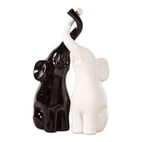 Howard Elliott Elephant Love Ceramic Sculpture Set