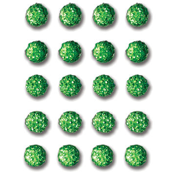 Queen & Co Twinkle Goosebumps 6mm Self-Adhesive 20/Pkg-Light Green