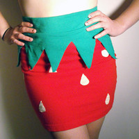 $34.00 Strawberry Skirt by TheGoodWitchClothing on Etsy