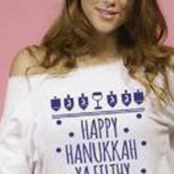 Happy Hanukkah Ya Filthy Shmuck, Chanukah Funny Hanukah shirt