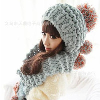 gloves fancy Picture - More Detailed Picture about 2014 Girl's Winter Warm Thick Wool Ball Wool Hat, Scarf, Gloves Three piece Scarf Set Women's Suit Gray Red Colors Picture in Scarf, Hat & Glove Sets from ~!Happy & Little Fort | Aliexpress.com | Alibaba G