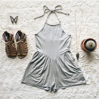 A Knit Romp in Heather Gray