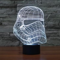 Star Wars Stormtrooper Helmet 3D LED Lamp