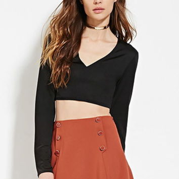 Contemporary V-Neck Crop Top