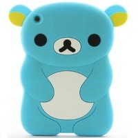 LliVEER 3d Cute Cartoon Bear Soft Silicon Cover Case for Apple Ipad Mini (Sky blue)