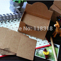 (1 Lot=1 Box=100 Sheets) DIY Scrapbooking Kraft Paper Tags Vintage Wedding Invitations Card Decoration Postcards Party Supplies