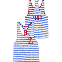 Texas Rangers High-Low Striped Tank - PINK - Victoria's Secret