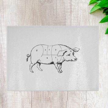 Pig Butcher Cutting Board
