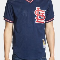 Men's Mitchell & Ness 'Ozzie Smith - St. Louis Cardinals' Authentic Mesh Practice