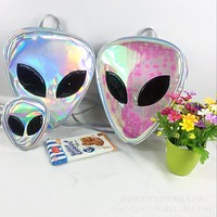 Iridescent Alien Hologram Transparent Backpack