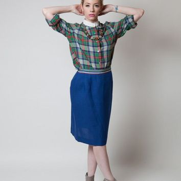 Vintage Exclusive Designs by Donn Kenny Plaid Shirt