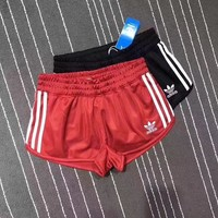 Adidas Women Fashion Stripe Print Drawstring Shorts