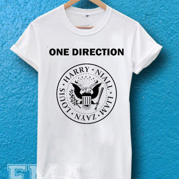 one direction ramones logo,T shirt for women and men