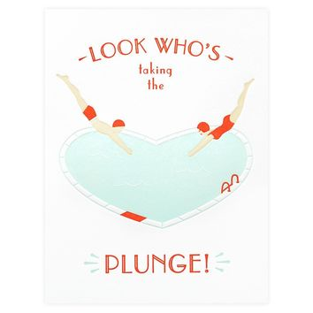 The Plunge Engagement Card