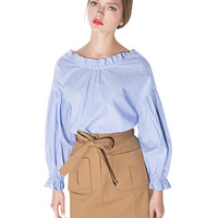 Khaki A-line Tie High Waist Mini Skirt
